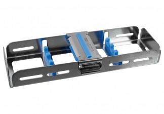 Waschtray für 3 Instrumente mit Silikon- auflage und Fixierclip 18 x 6,4 x 2,7cm