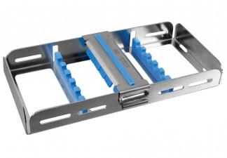 Waschtray für 5 Instrumente mit Silikon- auflage und Fixierclip 18 x 9,5 x 2,7cm