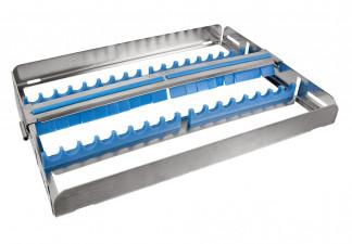 Waschtray für 16 Instrumente mit Silikon auflage und Fixierclip 26 x 18 x 2,7cm